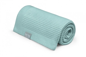 Eukaliptusowy kocyk 80x100 dusty mint - eco collection